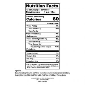 Adam Brooks Unicorn Pop Nutrition Facts