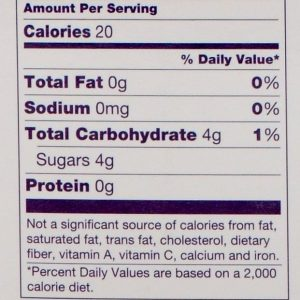 Big League Gumballs Nutrition Facts