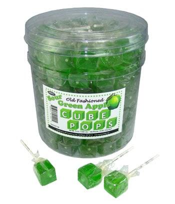 Green Apple Cube Pops