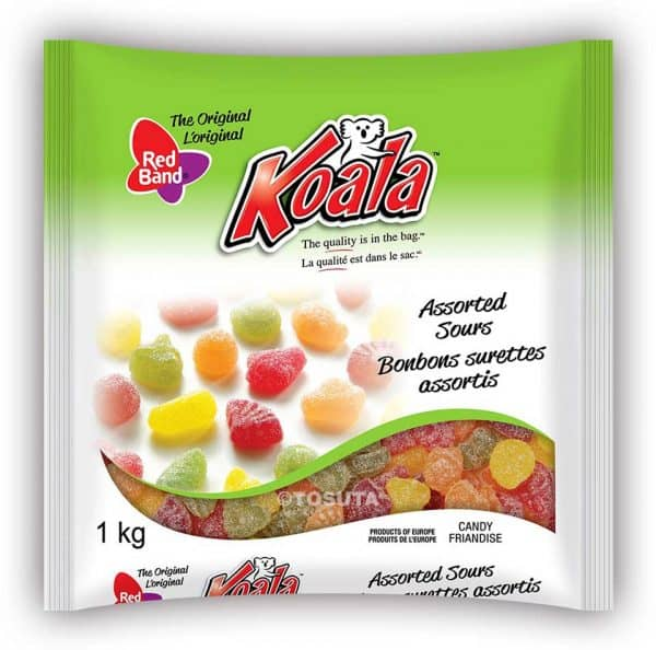 Koala-Red-Band-Assorted Sours 1kg