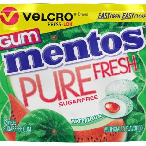 Mentos Gum Velcro Watermelon Sugar Free (10 Count