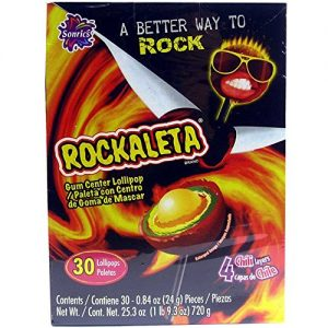 Rockaleta Gum Center Lollipop