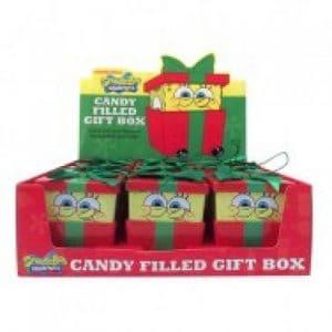 Christmas SpongeBob Surprise Gift Bubblegum Tin (9 Count)