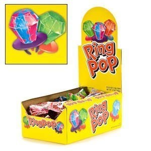 Ring pop assorted 24ct