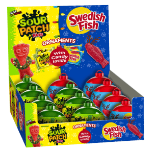 Sour Patch Kids Swedish Fish Ornaments Mix 12ct