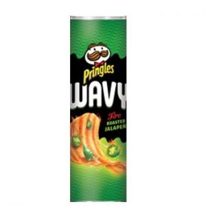 Pringles Wavy Fire Roasted Jalapeno 4.83oz