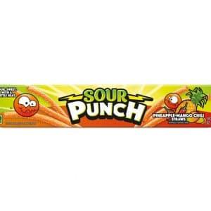 sour punch pineapple mango chili straws 24ct