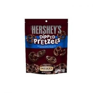 Hershey's Milk Chocolate Dipped Pretzels Peg Bag 4.25oz